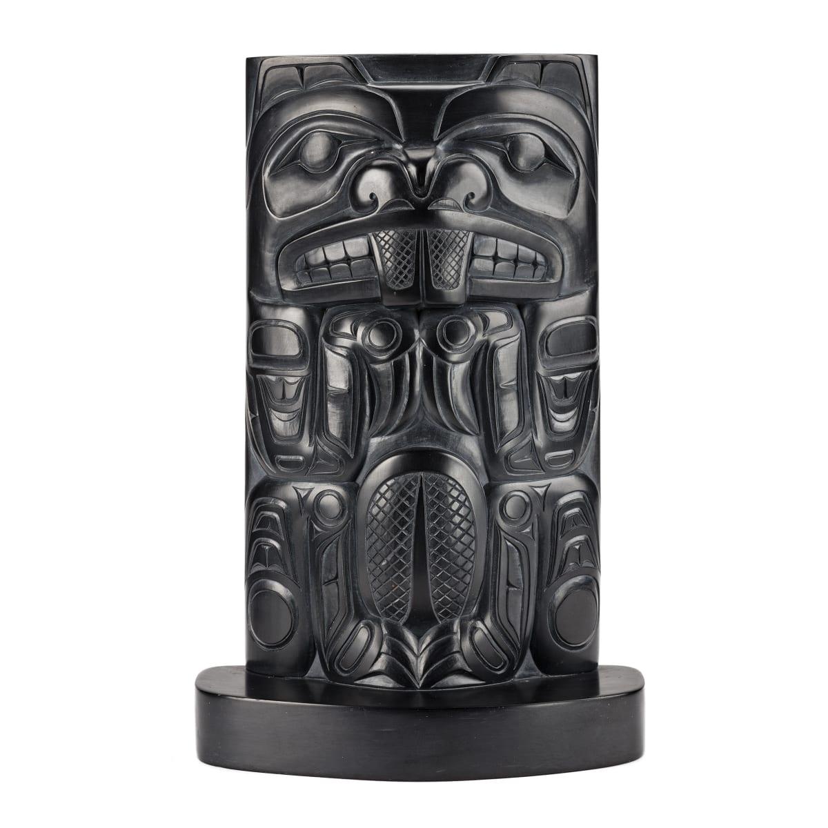 GARNER MOODY (1958-), HAIDA, SKIDEGATE Totemtic Figure, 1985 REALIZED: $2,160