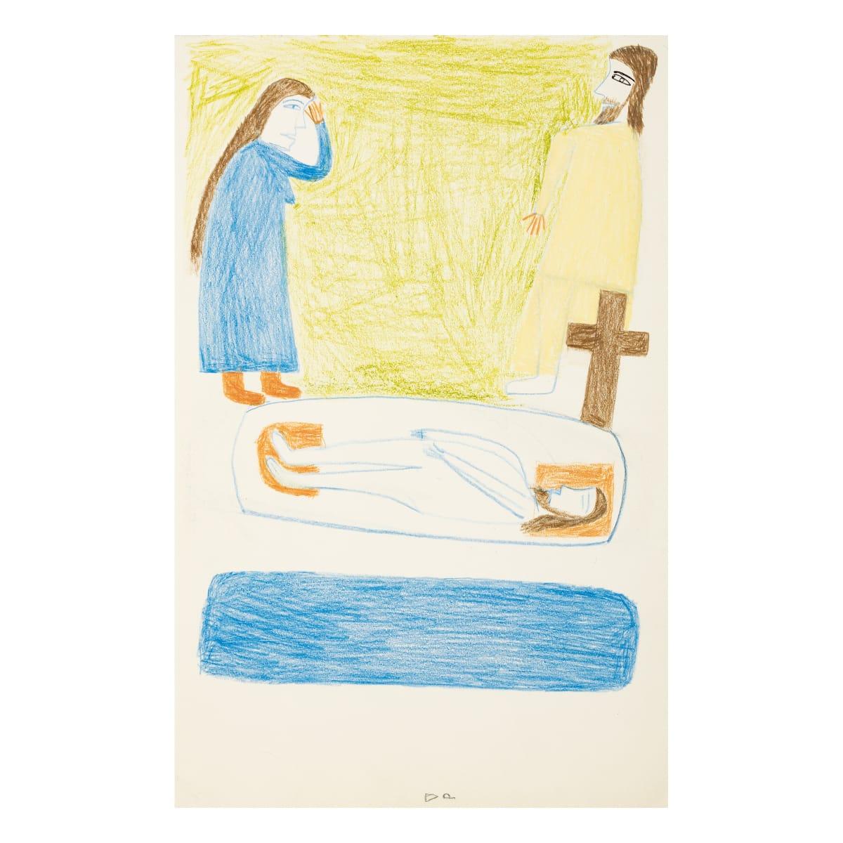 JESSIE OONARK, O.C., R.C.A (1906-1985) QAMANI'TUAQ (BAKER LAKE) Untitled (Magdalene at the Tomb of Jesus), c. 1976 REALIZED: $1,560