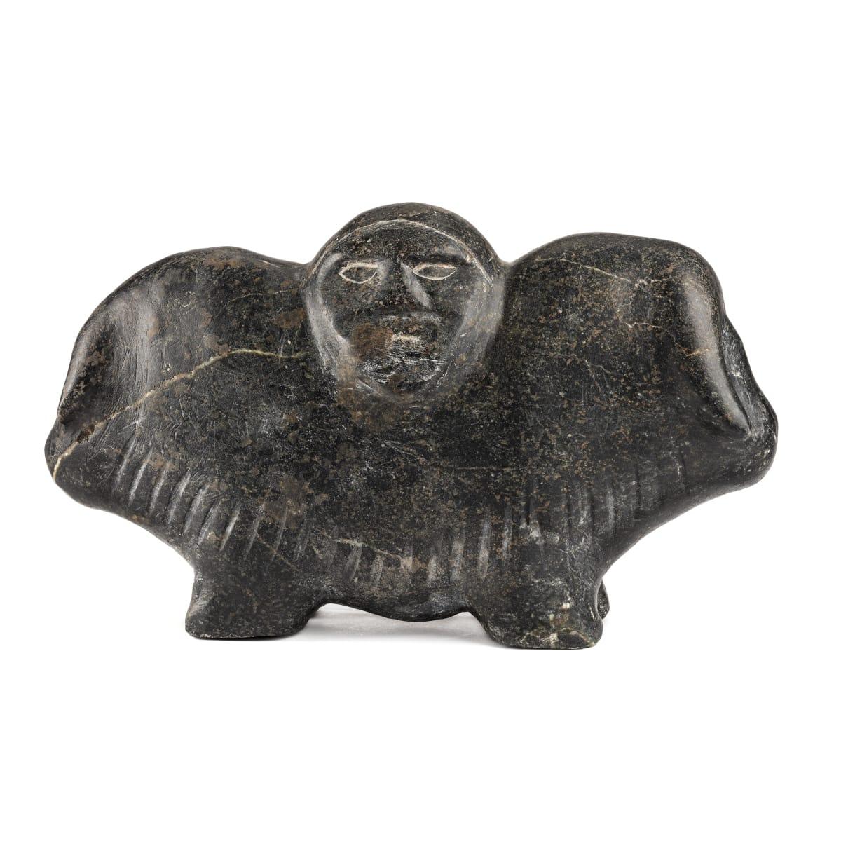 Barnabus Arnasungaaq (1924-2017) QAMANI'TUAQ (BAKER LAKE) Shaman and Two Muskoxen, c. 2000 REALIZED: $11,400