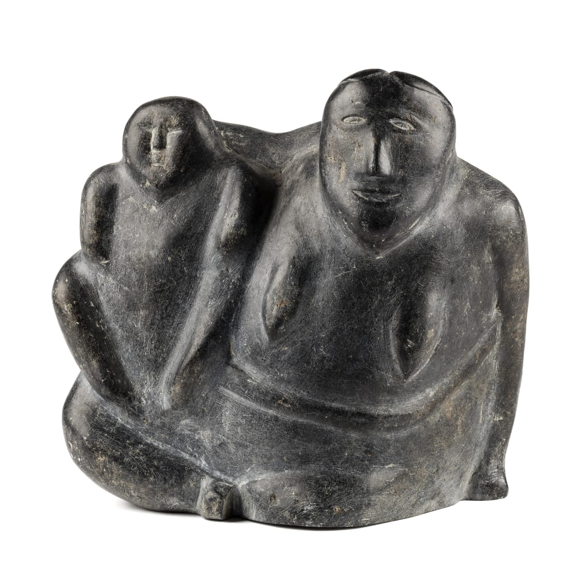 Attr.: John Attok (1906-1980) Arviat (Eskimo point) Mother and Child, c. 1965-8 REALIZED: $3,120