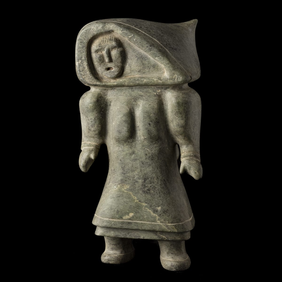 Solomonie Tigullaraq (1924-2000) KANGIQTUGAAPIK (CLYDE RIVER) Standing Woman, c. 1966 REALIZED: $2,040