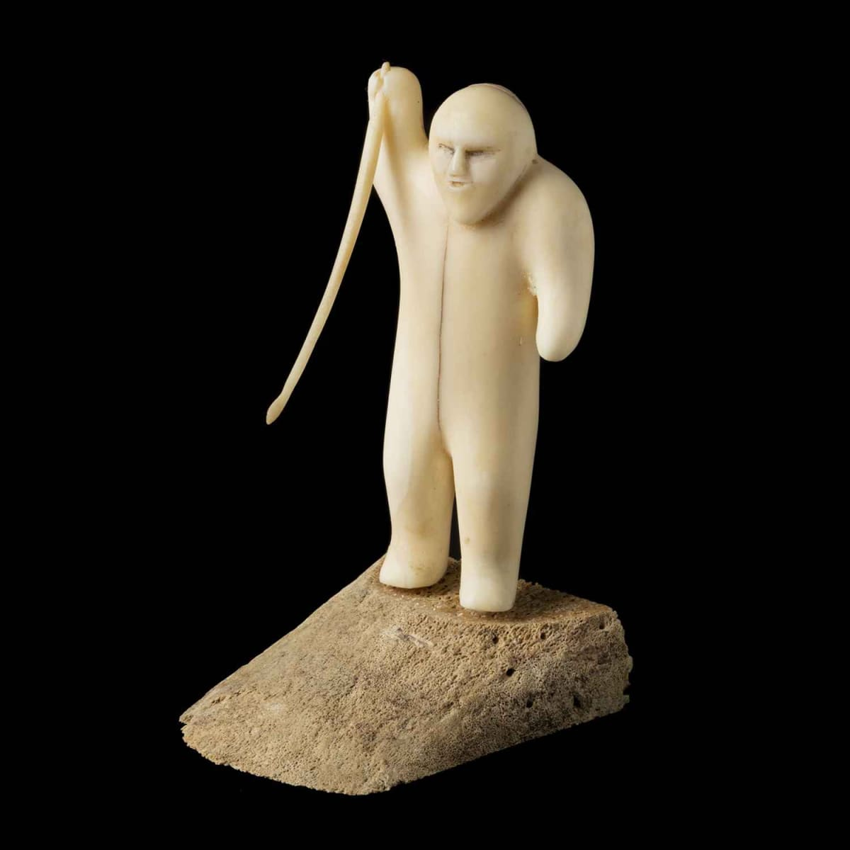 14. FABIEN OOGAAQ (1923-1992), KUGAARUK (PELLY BAY) Hunter with a Spear, 1970 SOLD