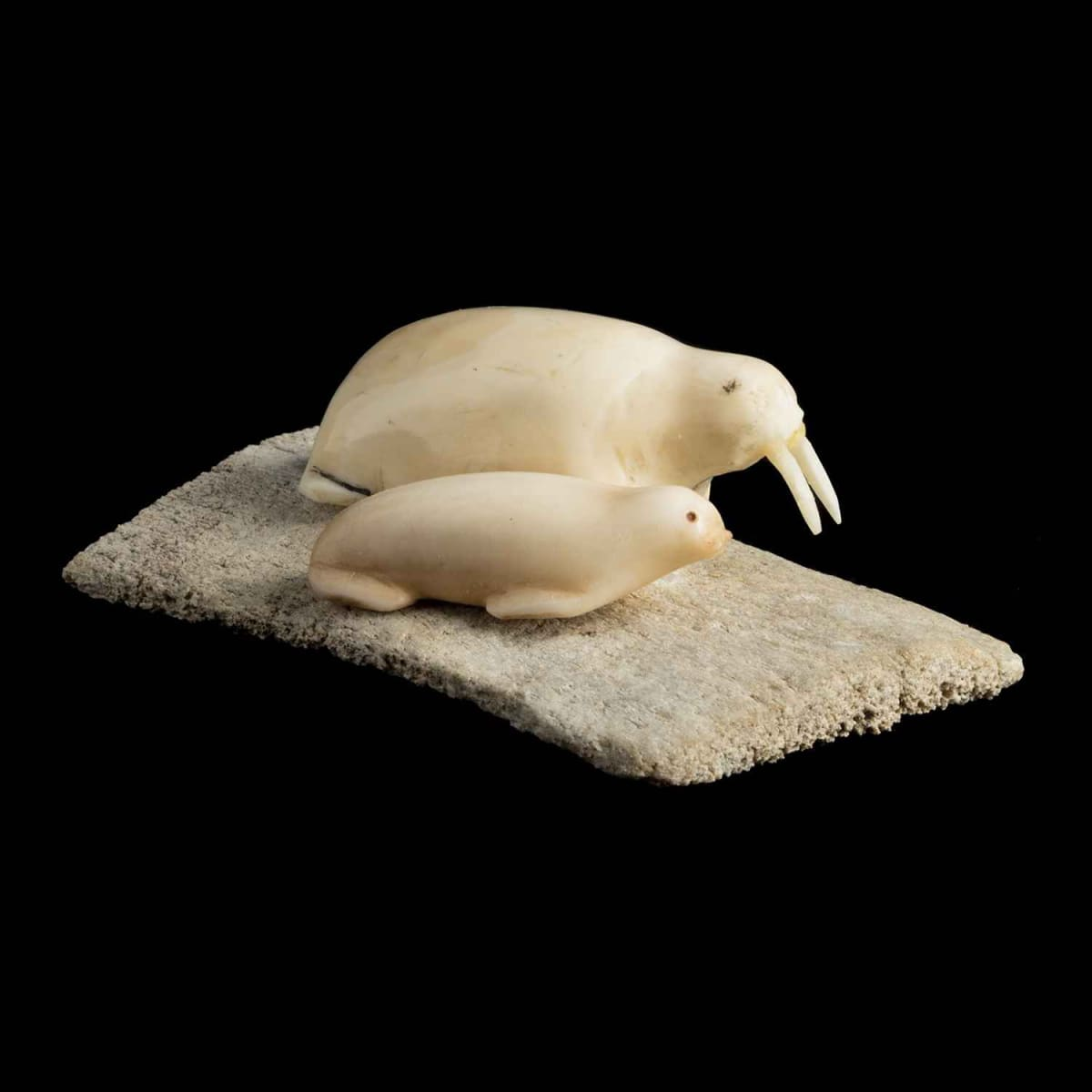 17. UNIDENTIFIED ARTIST, KUGAARUK (PELLY BAY) Walrus and Seal, 1969 SOLD
