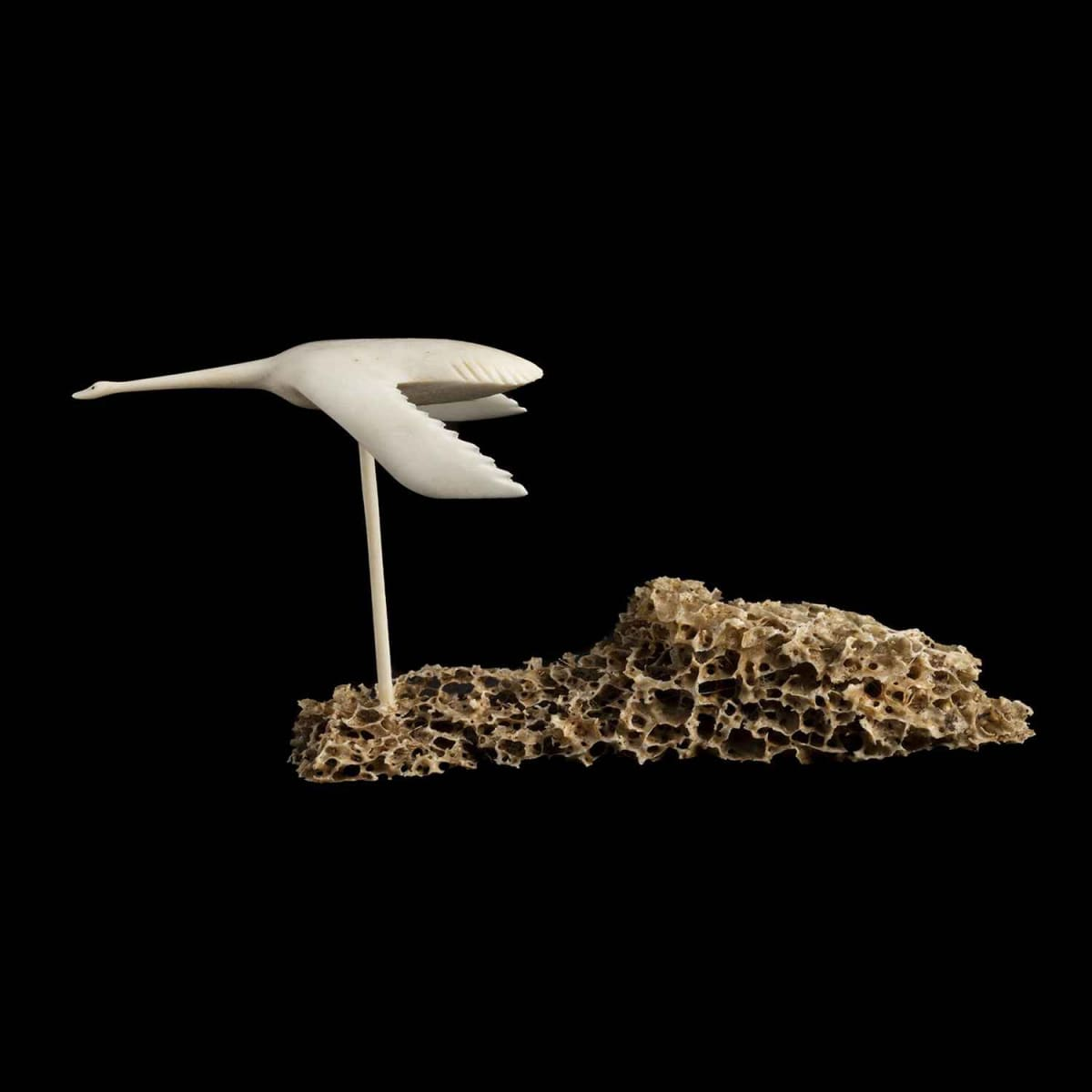 51. UNIDENTIFIED ARTIST, NAUJAAT (REPULSE BAY) Flying Bird, c. 1970