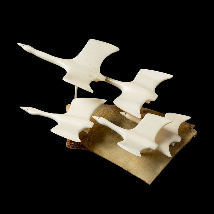 15. UNIDENTIFIED ARTIST, KUGAARUK (PELLY BAY) Four Swimming Birds, 1969 SOLD