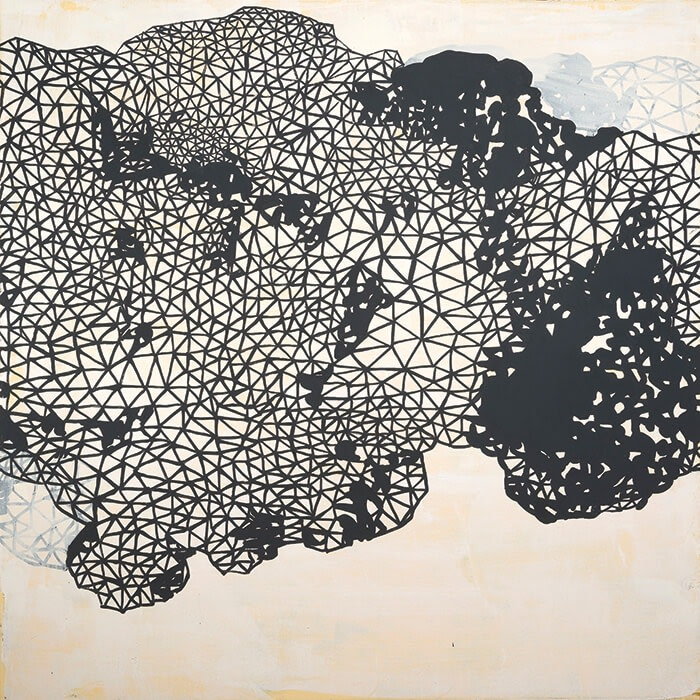 Rebecca Rutstein, Feeling Isolated, acrylic on canvas, 36 x 36 in.