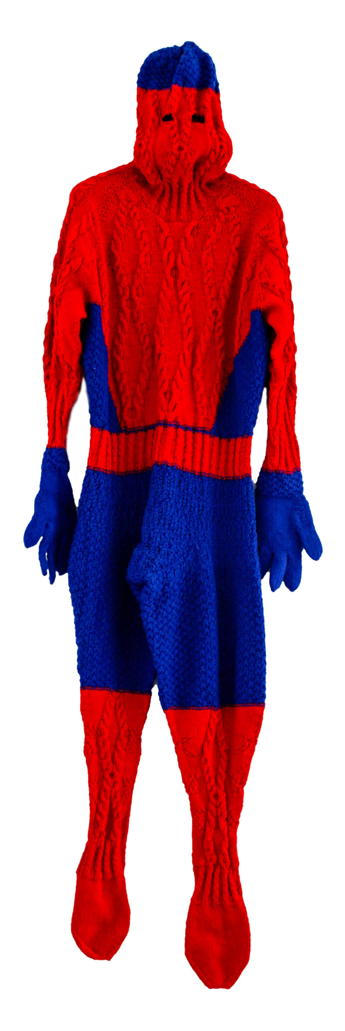 Mark Newport, Sweaterman 5, hand-knit acrylic with buttons