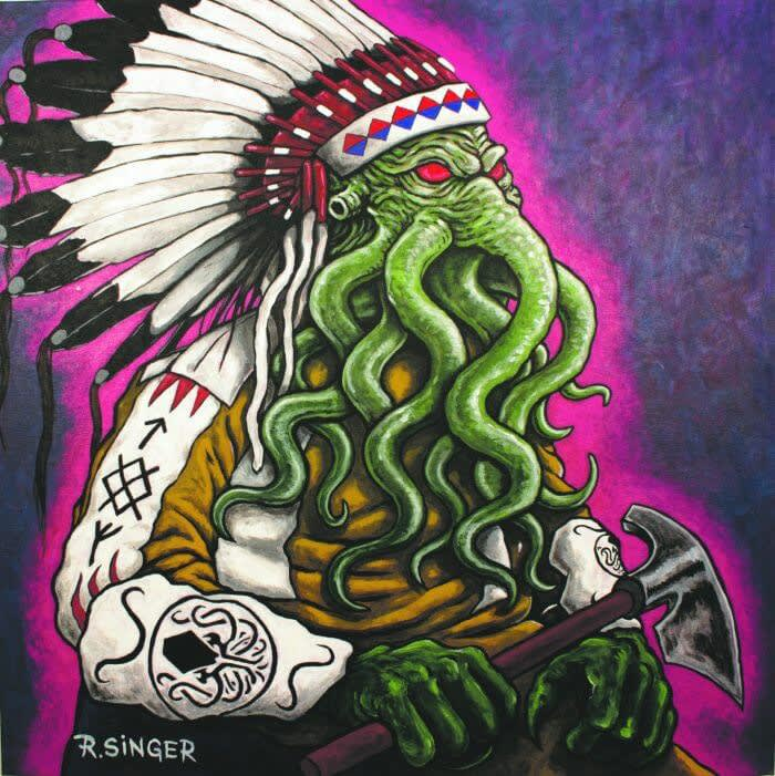 Ryan Singer, Chief Cthulhu (Great Old One), 24 x 24 x 2 in.