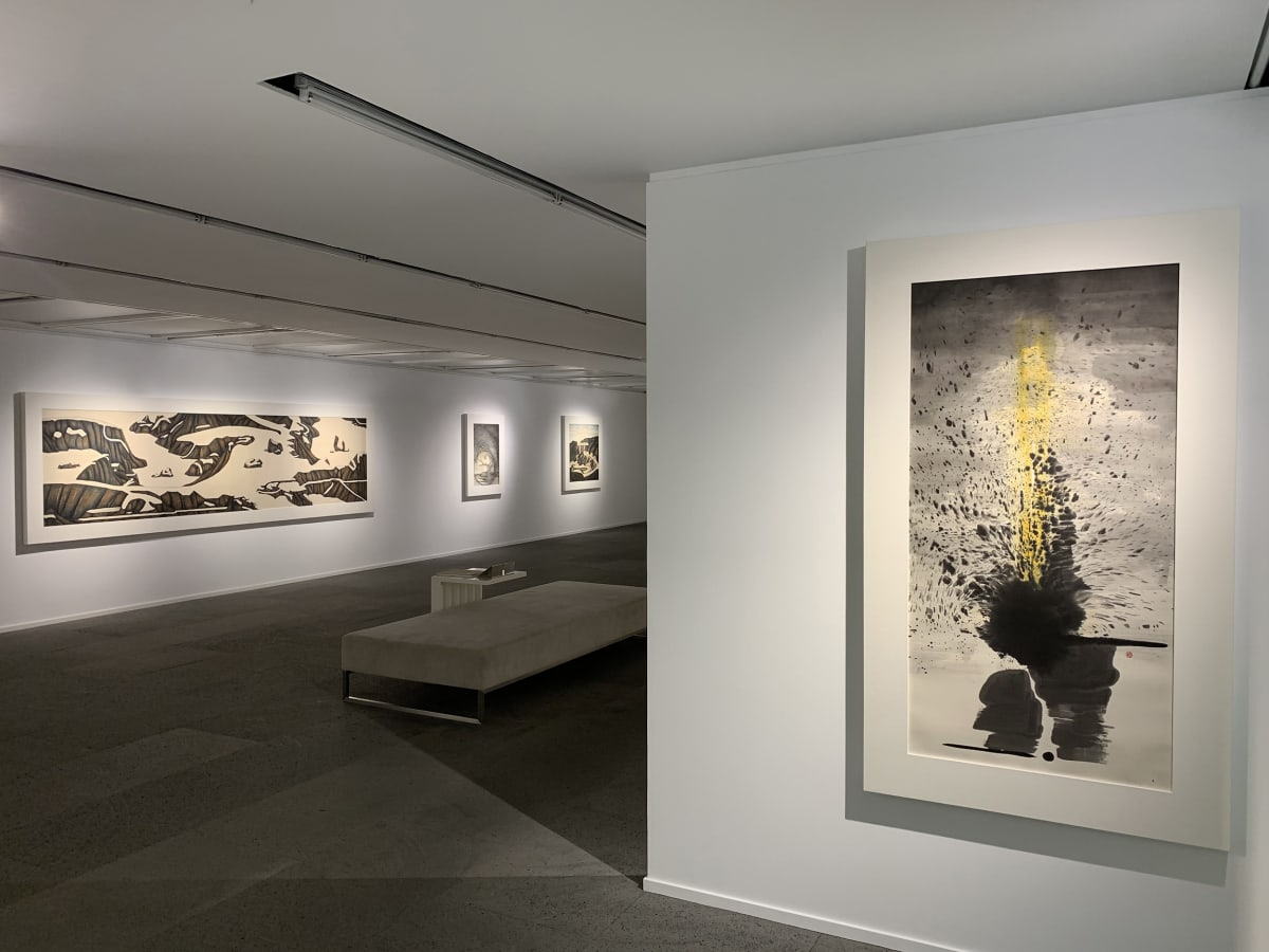 Galerie Du Monde One Art Group Pioneers Of Ink Art Installation View 3