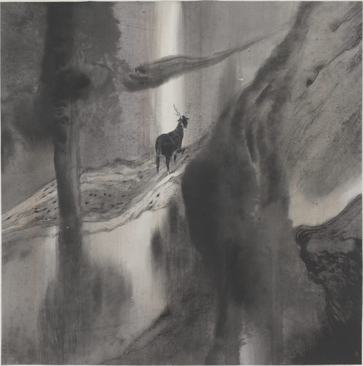 Lin Yusi - A Deer Looking Back