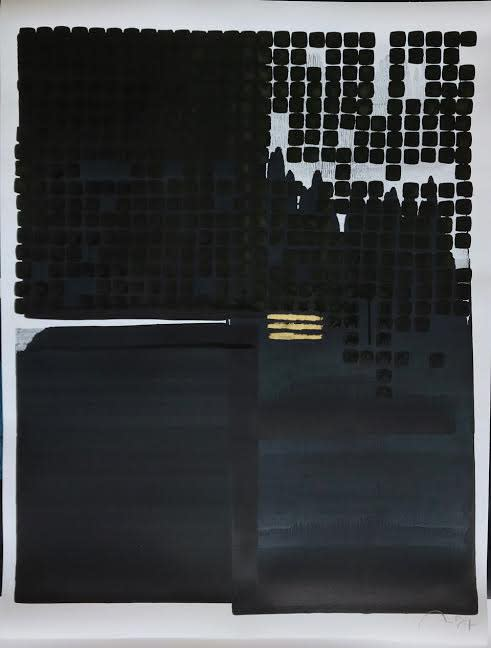 Nicolas Lefeuvre Untitled, 2020 Ink and gold powder on paper 80 x 70 cm