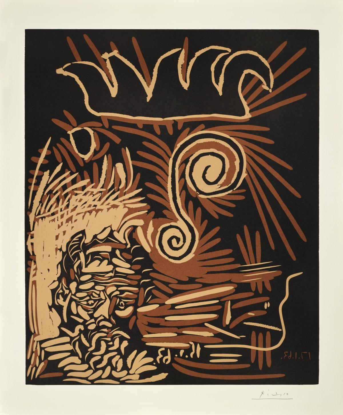 Pablo Picasso Le Vieux Bouffon, 1963 Linocut on Arches paper 75.2 x 62.2 cm Artist proof