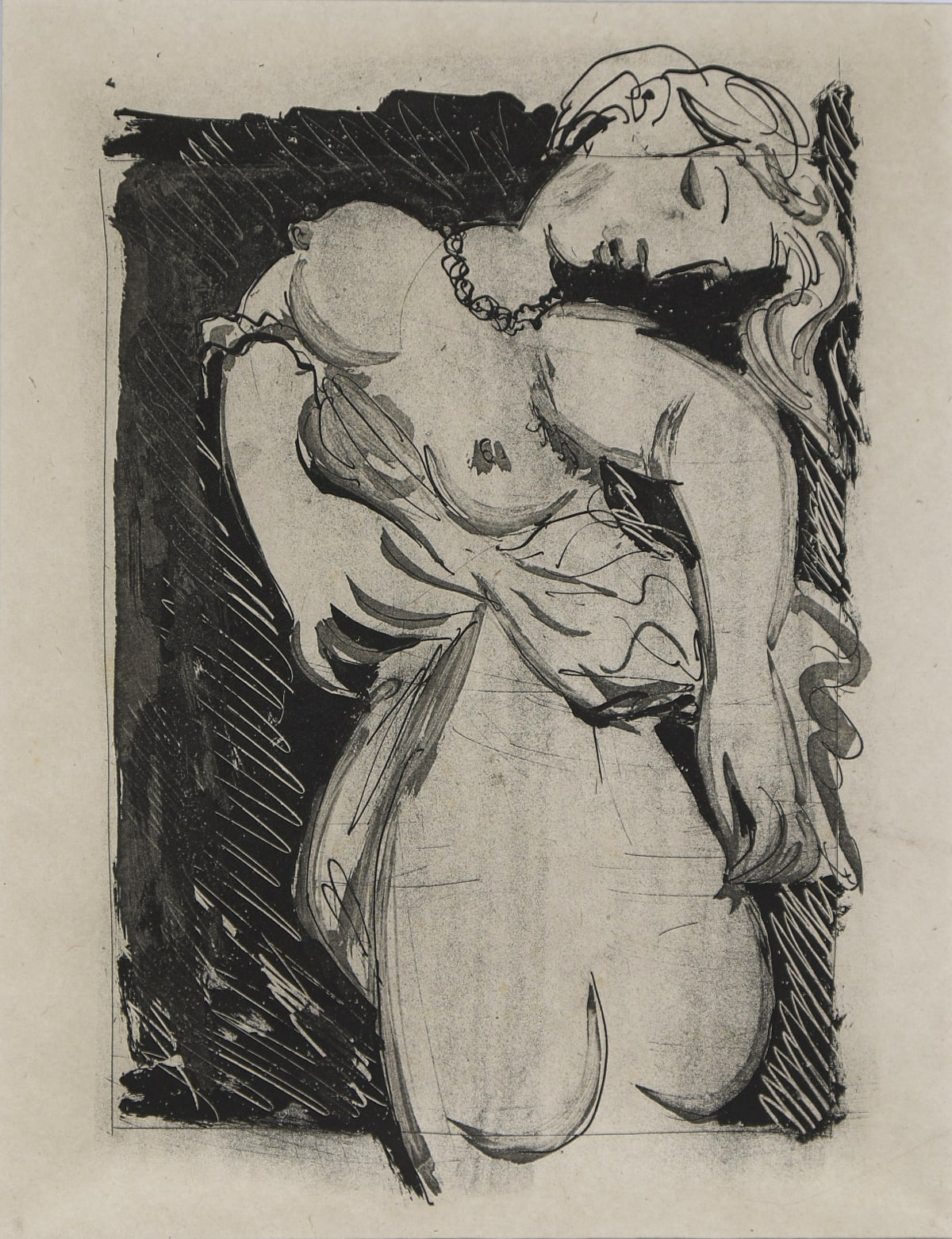 Pablo Picasso La Puce, 1936 - 1942 Etching and aquatint on Chinese paper 37 x 27 cm 2nd state B, Artist proof on Chinese paper, aside from the numbered edition of 35 original etchings to illustrate Buffon's texts, Paris, 1942. Martin Fabiani, editor. Proof printed by Lacourière