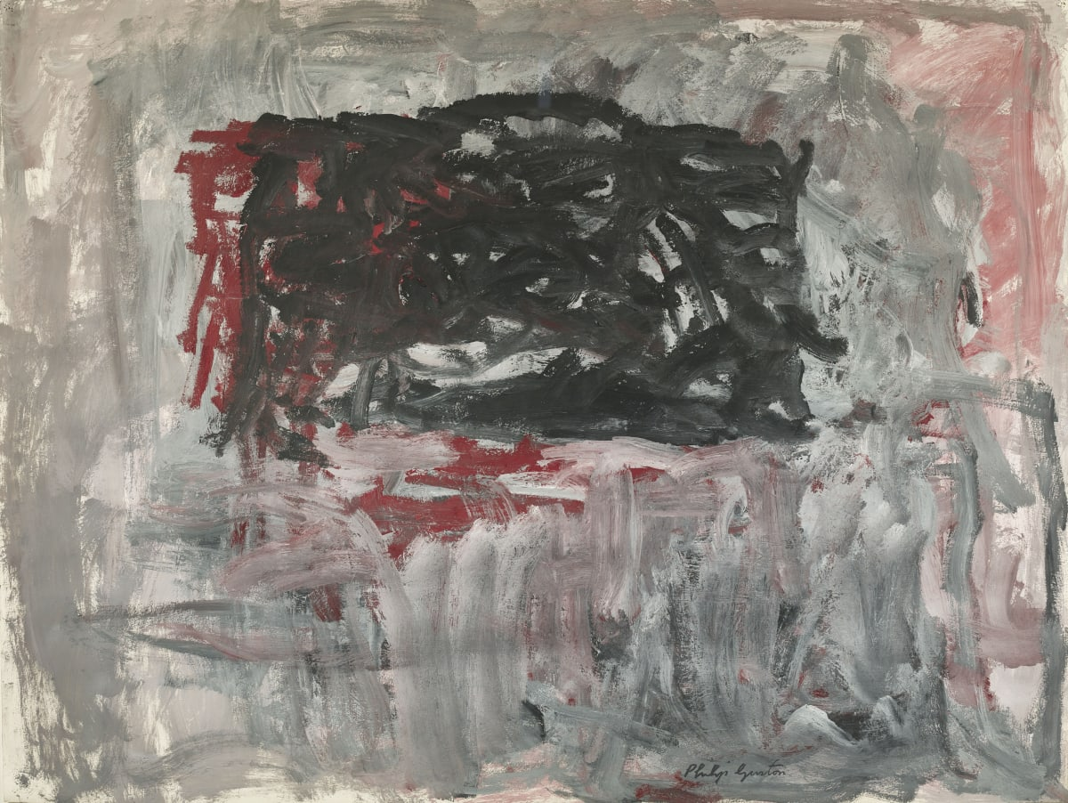 Philip Guston Accord ll, 1963 Gouache on paper 76.8 x 101.6 cm / 30.25 x 40 in. 98 x 123 cm (framed)
