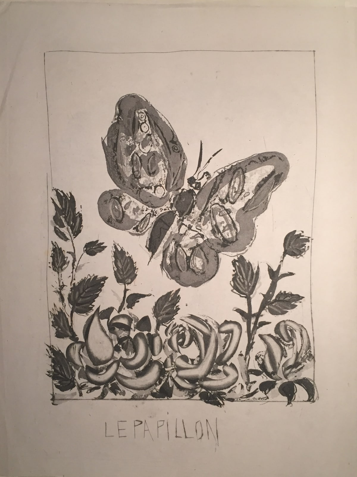 Pablo Picasso Le Papillon, 1936-1942 Sugar-lift Aquatint, scraper and dry point on Imperial Japanese paper 37 × 27 cm