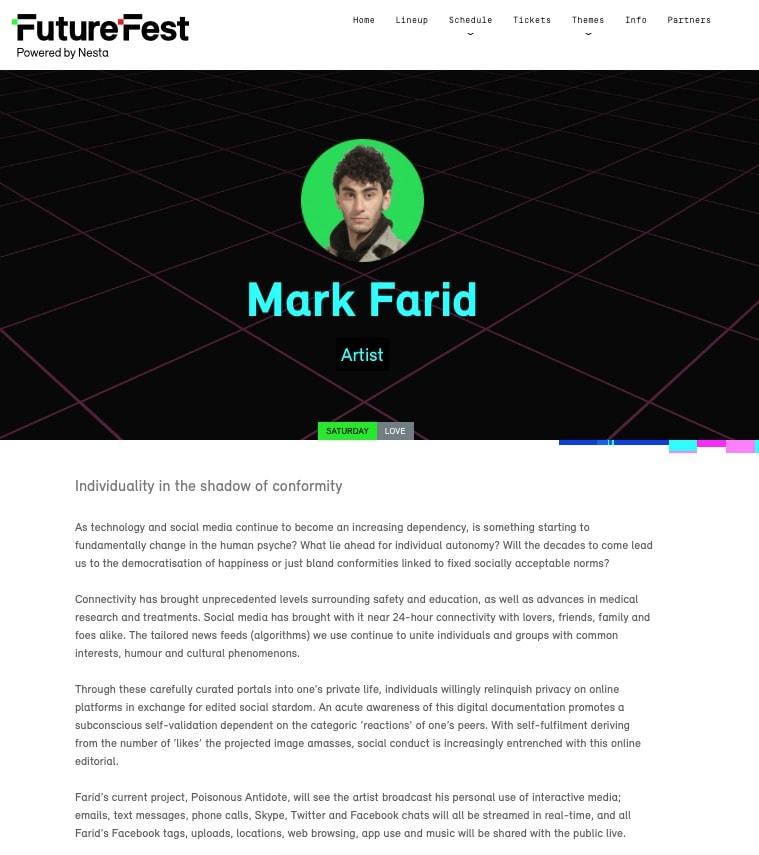 MARK FARID | FUTUREFEST | SEPTEMBER 2016