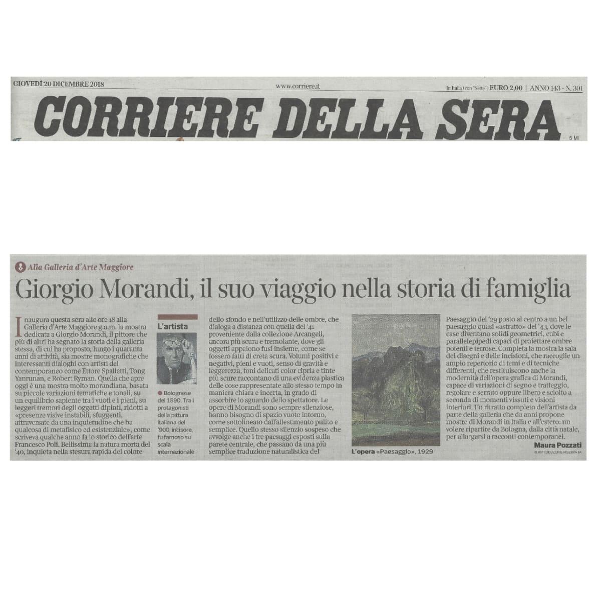 Giorgio Morandi, il suo viaggio nella storia di famiglia