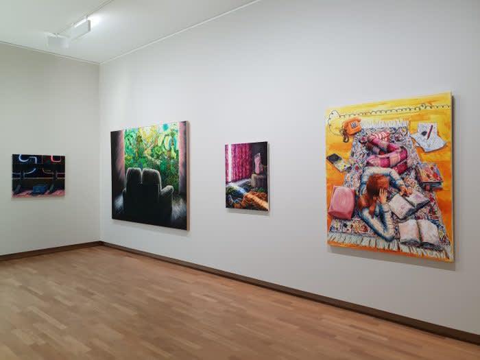 """Willem Weismann & Michael Raedecker in group exhibition """"De Meest Eigentijdse Schilderijen Tentoonstelling"""" at Dordrechts Museum (NL)"""