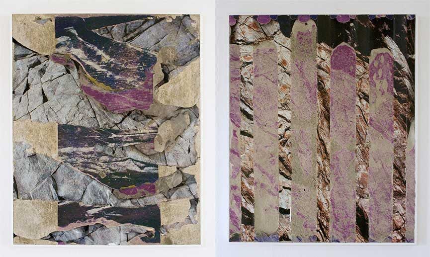 Left: Letha Wilson – Grey Rock Headlands / Right: Letha Wilson – Headlands Rock Magenta, 2013