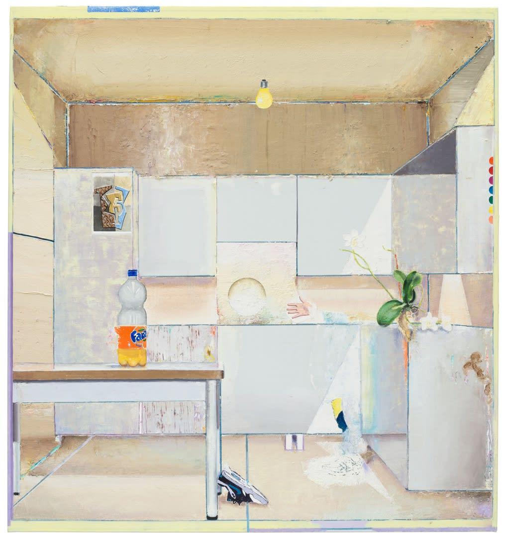 Matthias Weischer Untitled (Tafel), 2017 Oil on canvas 135 x 126 cm | 53 1/8 x 49 5/8 in