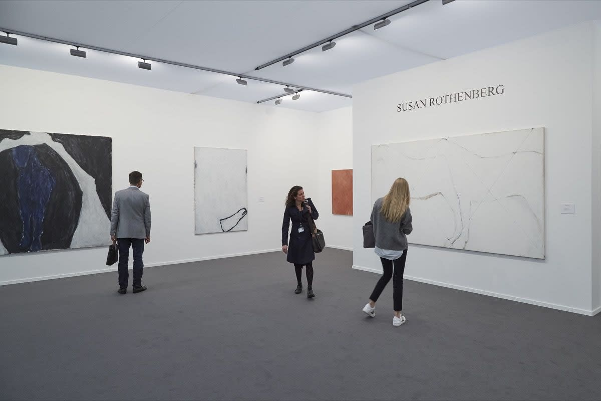 Installation view of Sperone Westwater's booth at Frieze Masters, 2016. Photo by Benjamin Westoby for Artsy.
