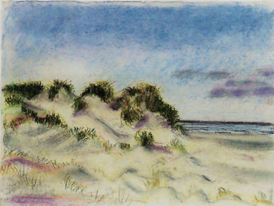 Schiermonnikoog 17, 2017. Pastel op paper 21.5 x 28 cm