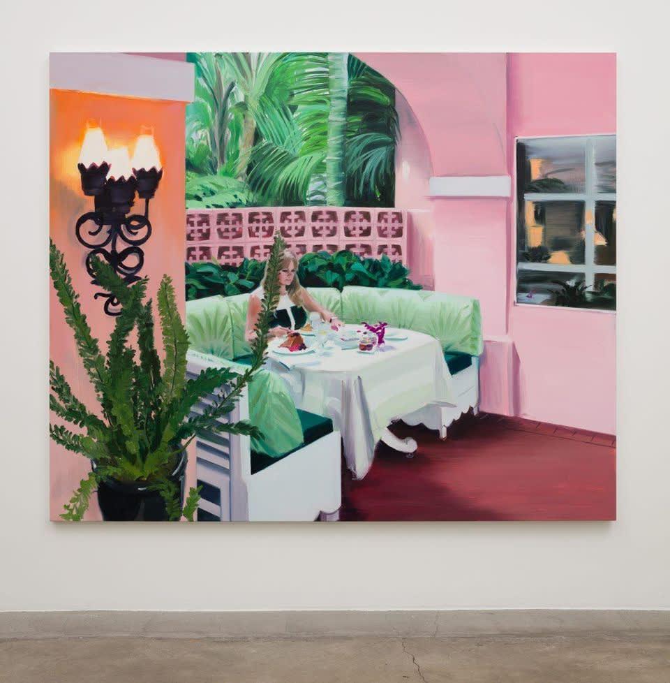 Caroline Walker Desayuno, 2017 Oil on linen 190 x 230 cm