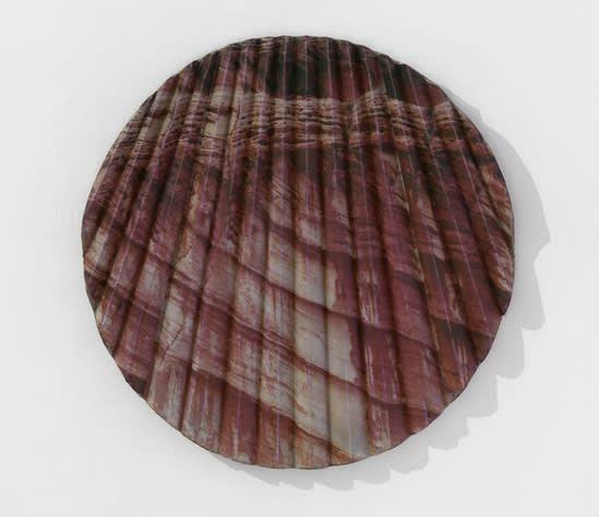 "Letha Wilson's ""Kanab Concrete Tondo (Fold)"". Courtesy Hauser & Wirth."