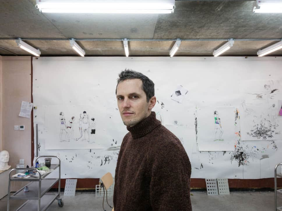 Sketch show: Charles Avery in his east London studio (Justin Sutcliffe)