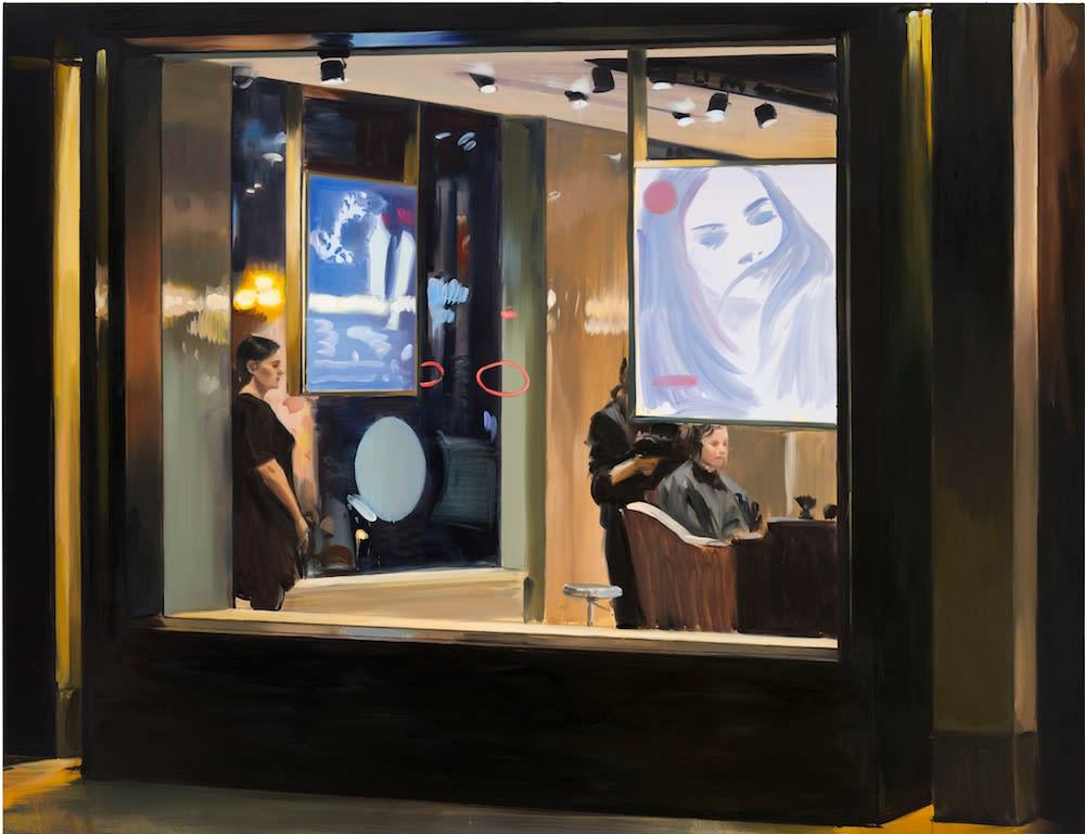 Caroline Walker, Corner Cuts, 2019. Courtesy Grimm Amsterdam, New York