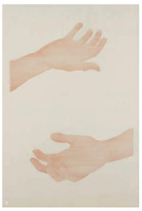 Die Galerie Grimm präsentiert derzeit neue Werke des Iren Ciarán Murphy, darunter »Two Hands« (2017)