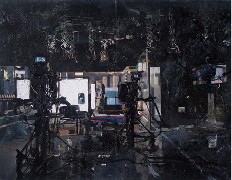Tbb Tv Studio, 2009 Acrylic, Enamel, Sand On Panel 220x300 cm