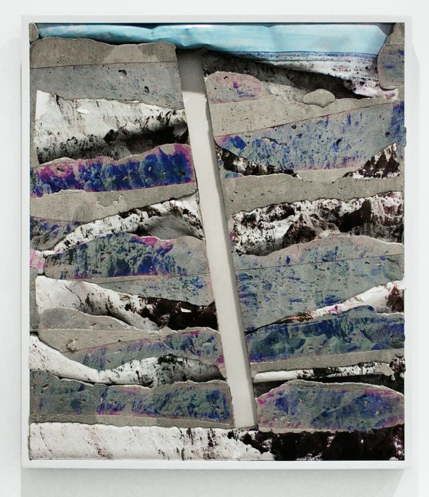 Letha Wilson: Badlands White, 2012, C-prints and concrete, 281⁄4 by 241⁄4 by 2 inches; at Higher Pictures.
