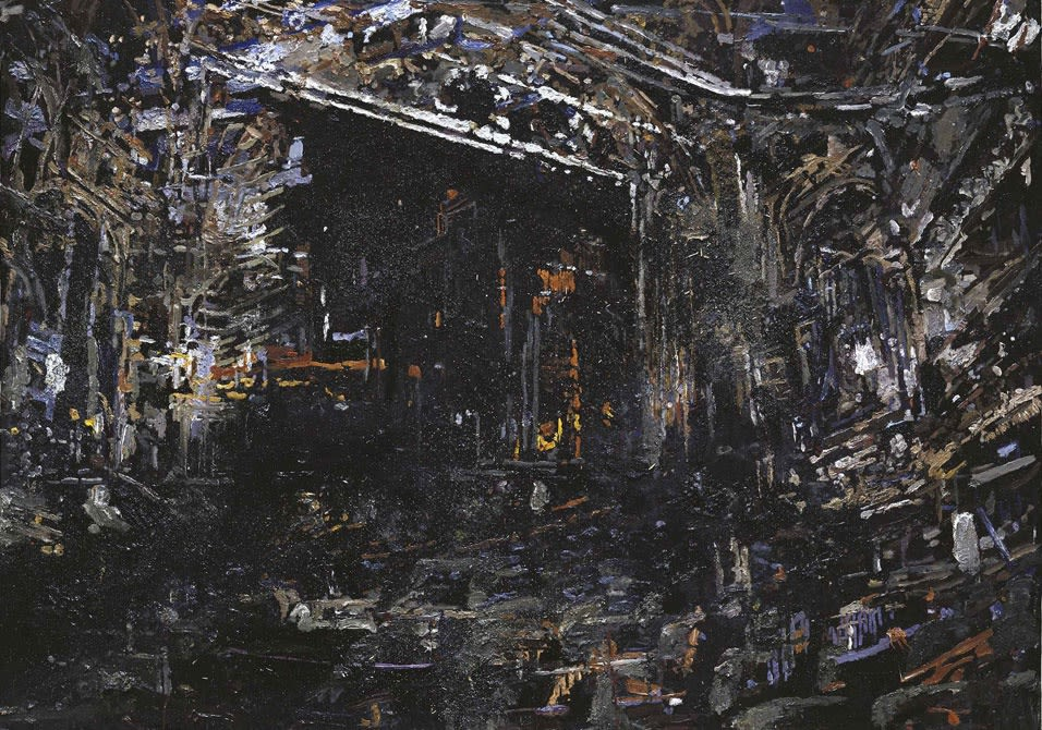 Tjebbe Beekman, Oration, 2008, acrylic, enamel, wire and sand on canvas on panel, 150 x 207 cm, Collectie de Heus – Zomer.