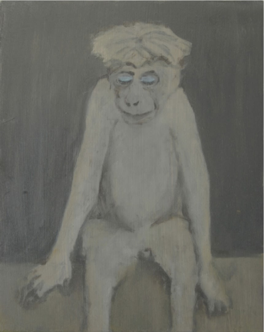 Monkey with eyeshadow , 2008 Oil on canvas 50 x 40 cm   19 3/4 x 15 3/4 in