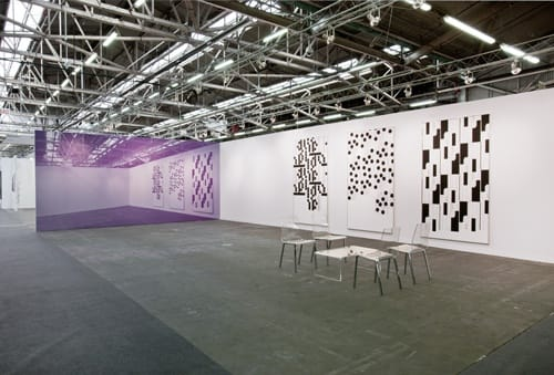 Installation view of David Zwirner booth, The Armory Show, New York, 2012