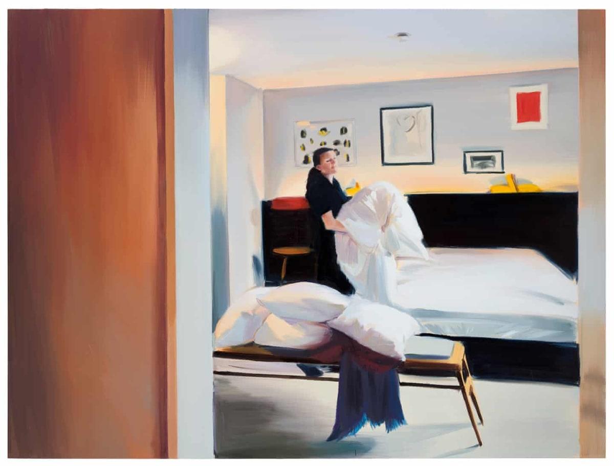 Bedding, Room 44 2018, oil on linen, 180 x 240cm