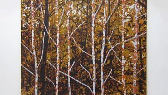 William Monk, Paravent (Universum), 2014, Oil on canvas, 90 1/2 x 110 3/16 in. (230 x 280 cm)