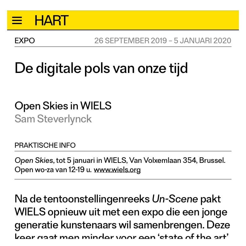 Emmanuel Van der Auwera in HART Magazine