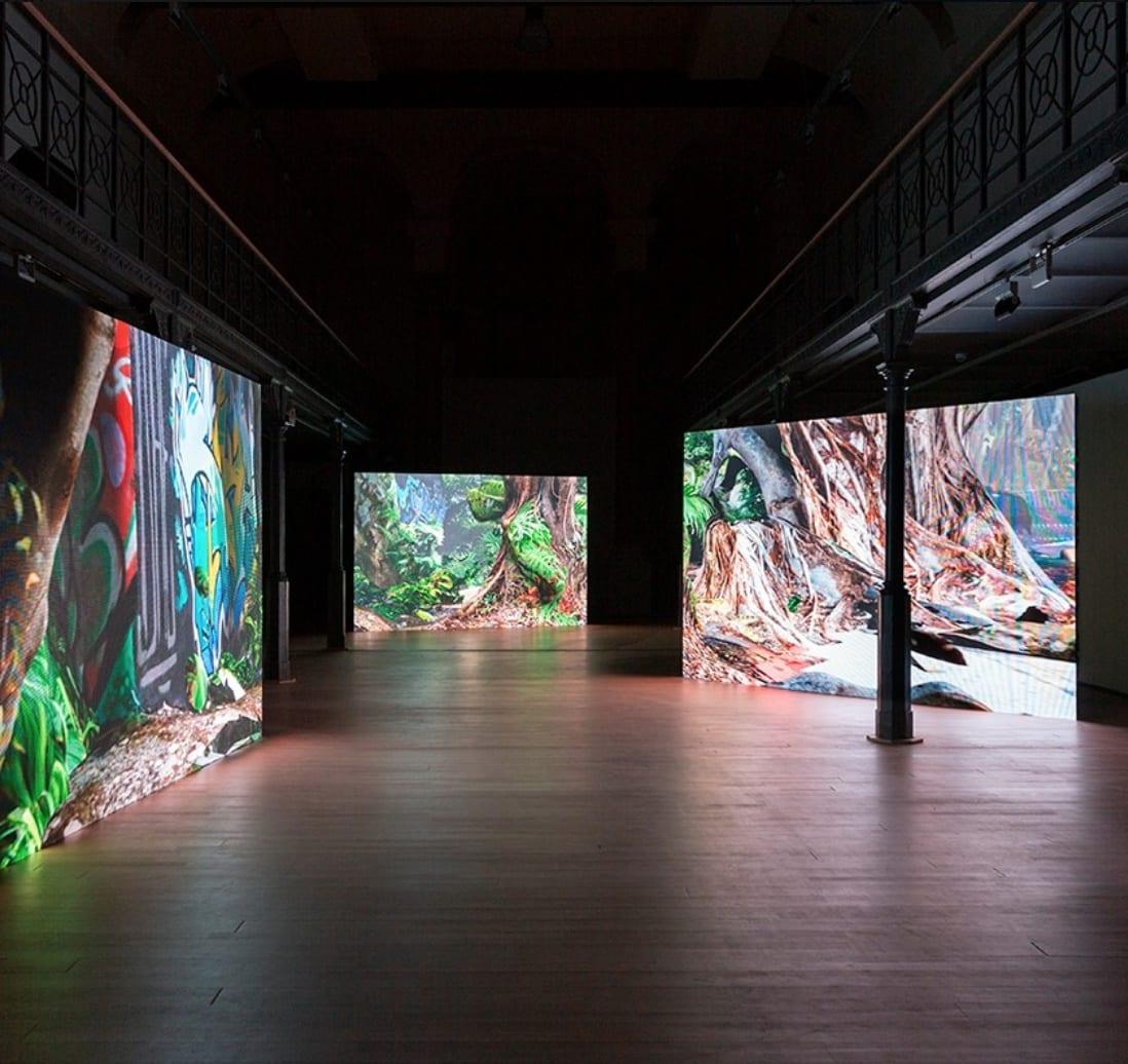 Screening of Emmanuel Van der Auwera's films at the Nasher Sculpture Center