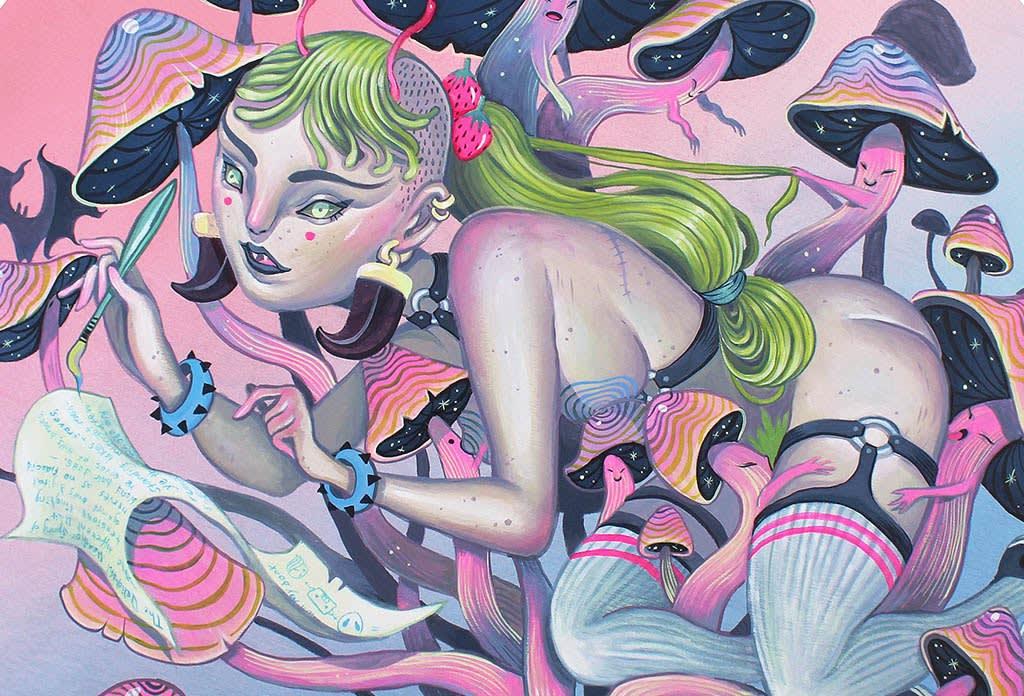 Lauren YS painting