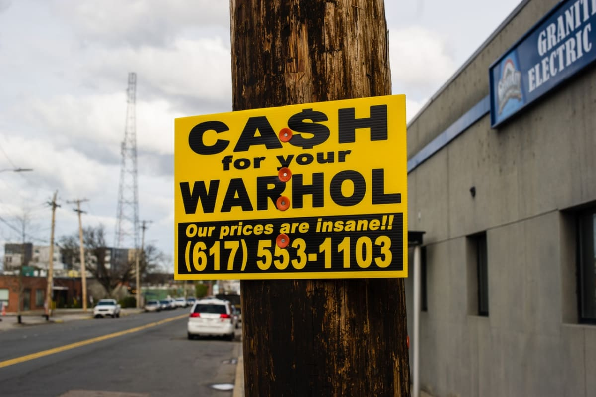 Cash For Your Warhol street art installation