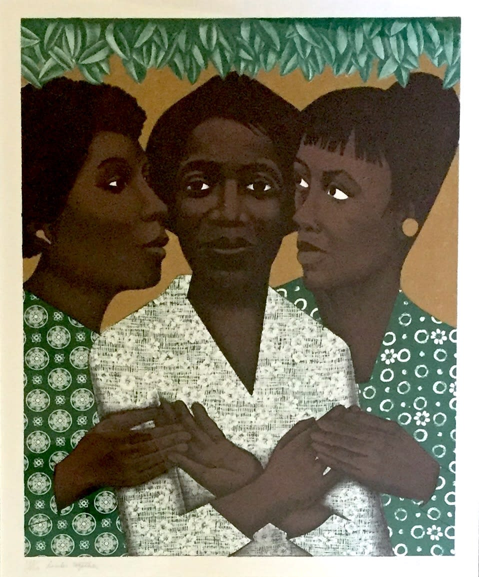 Elizabeth Catlett Links Together, 1996 Lithograph 24 x 20