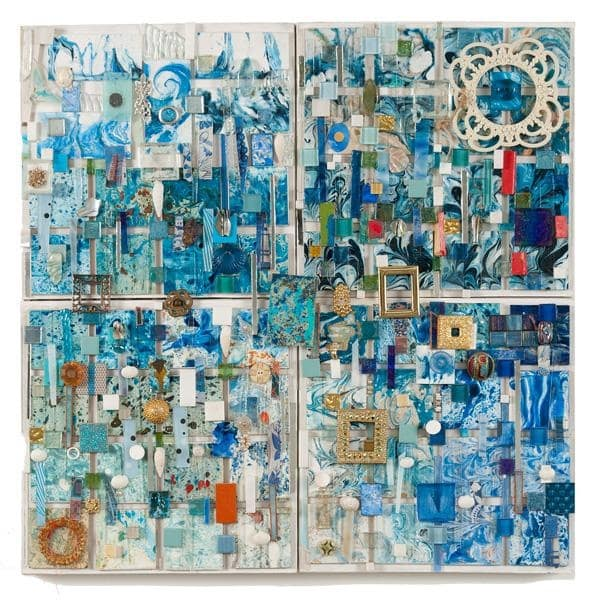 Lillian Blades Seashore Mixed media assemblage 31 x 30