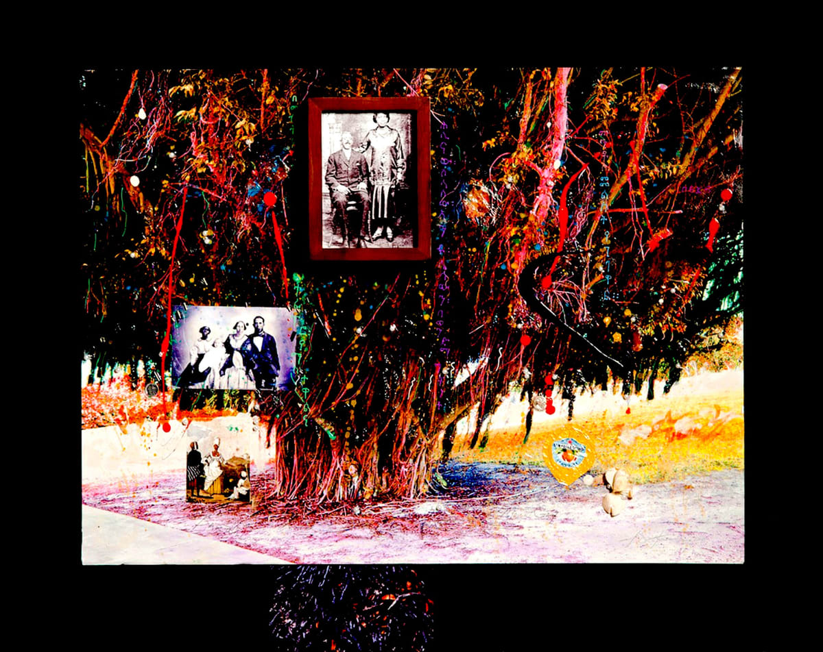 "Michael D. Harris Barbados Family Tree, 2009-2010 Mixed Media on Board 34"" x 41"""