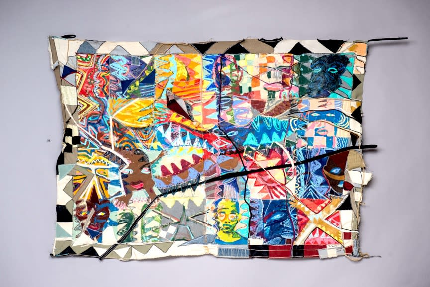 "Frank Smith Untitled, 2008 Mixed Media on Canvas 34"" x 52"""