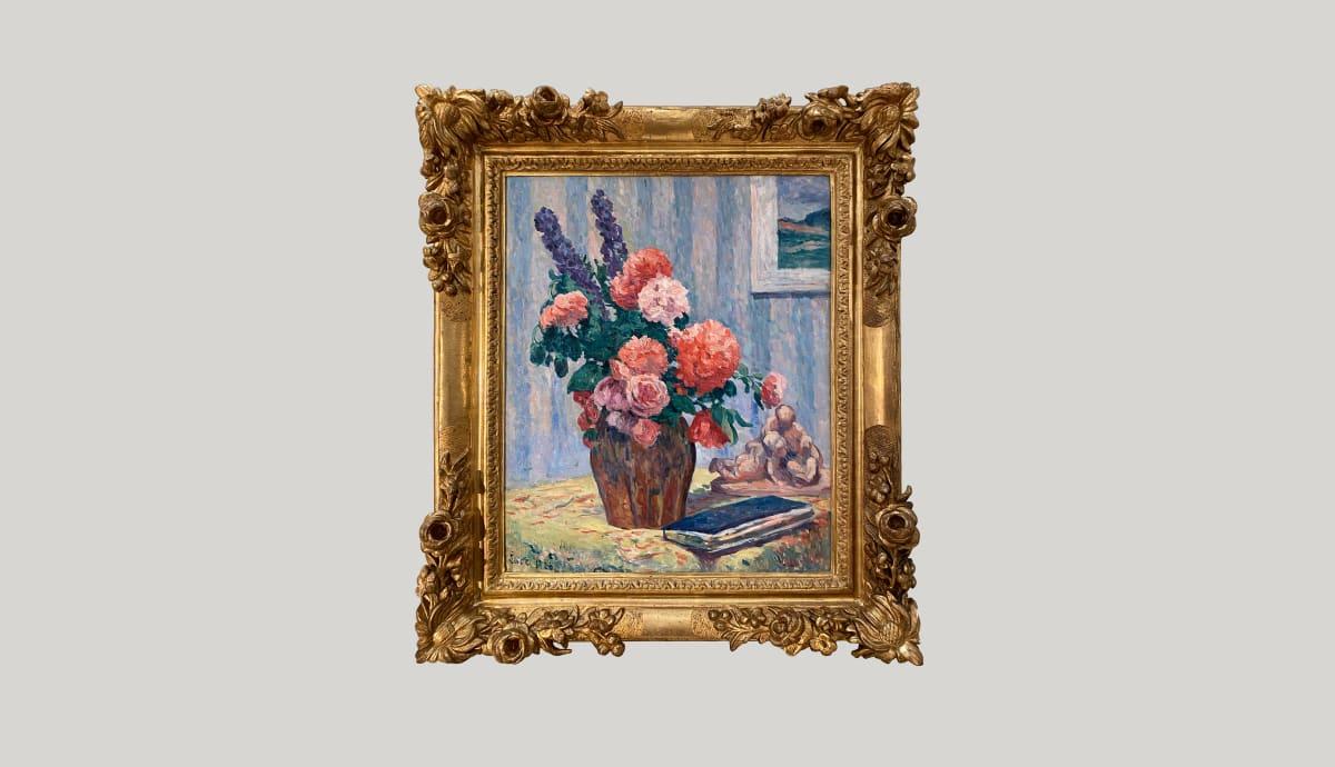 MAXIMILIEN LUCE, Nature morte au bouquet