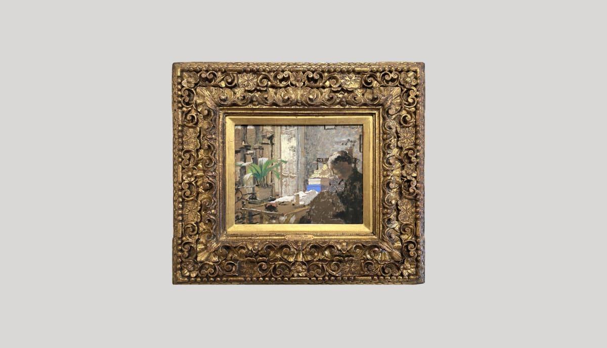 EDOUARD VUILLARD, Madame Vuillard cousant