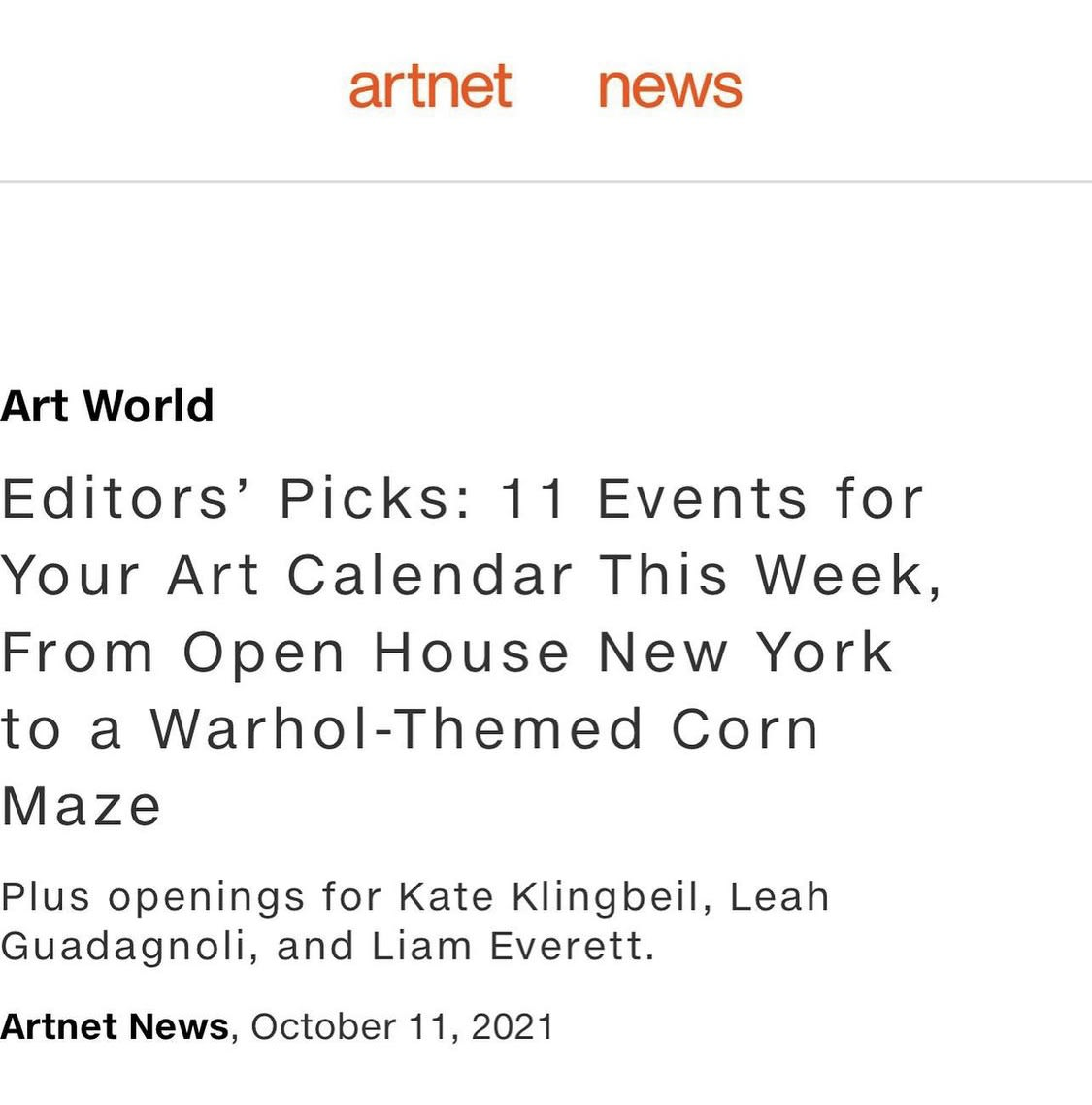 Editors' Picks: 11 Events for Your Art Calendar This Week, From Open House New York to a Warhol-Themed Corn Maze