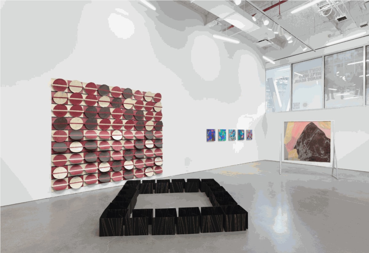 "Installation view, ""Latinx Abstract"", BRIC, 2021"